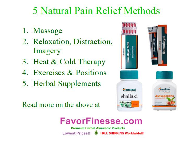5 Natural Pain Relief Methods graphic