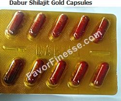 Dabur Shilajit Gold Capsules size