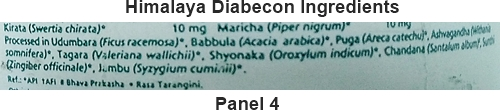 Diabecon Tablet Ingredients panel 4