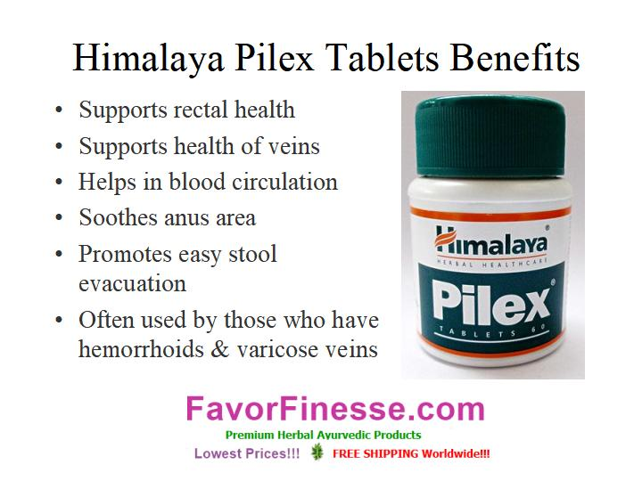Himalaya Pilex benefits graphic