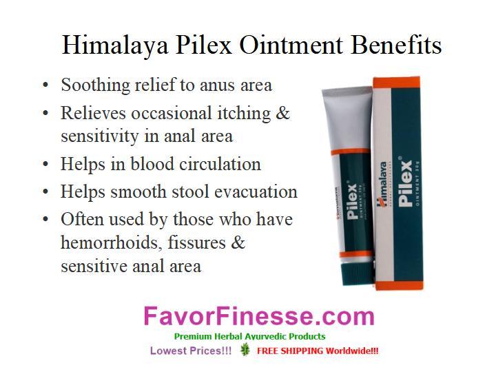 Himalaya Pilex Ointment benefits infographic