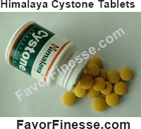 Himalaya Cystone tablets size appearance