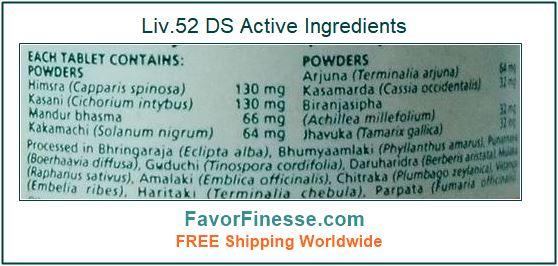 Liv 52 DS Tablets Active Ingredients
