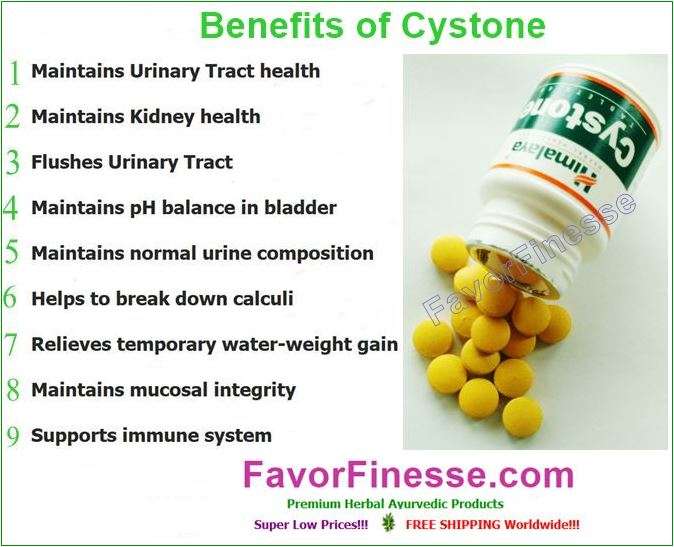 Cystone health benefits infographic