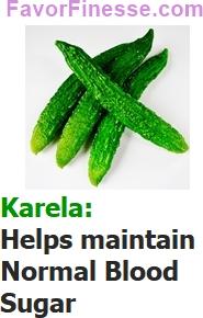 Karela helps maintains normal blood sugar