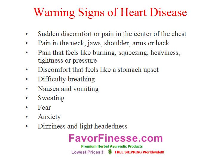 Warning signs of heart disease