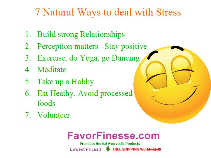 7 natural ways to deal with stress infographic