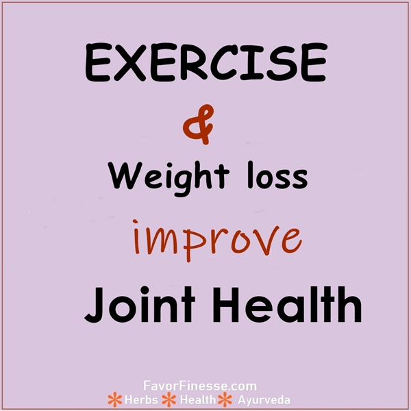 Exercise and weight loss improve joint health