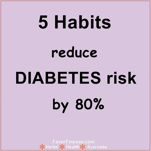 Reduce diabetes risk with 5 habits